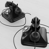 Two vintage telephones — Stock Photo