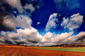 Awesome sky over land — Stock Photo