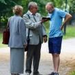 Two elderly Jehovah's Witnesses — Stock Photo