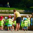 Preschool children taken care of by Kindergarten teachers — Foto de Stock