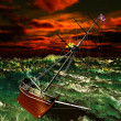 Stock Photo: Pirate ship