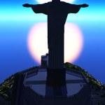 Christ the Reedemer, in Rio de Janeiro — Stock Photo #28550927