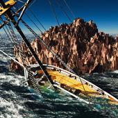 Pirate brigantine — Stock Photo