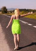 Sexy autostopista — Foto de Stock