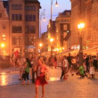 People in Rynek, Wroclaw inPoland — Stock Video