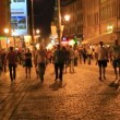 Stock Video: European city at night