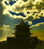 Templo budista zen en las montañas — Foto de Stock