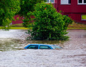 Flooded street — Stock Photo
