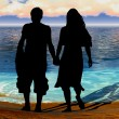 Couple at the seaside — Stock Photo #32975533