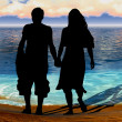 Couple at the seaside — Stock Photo