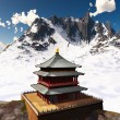 Zen buddhist temple in  mountains — Stock Photo