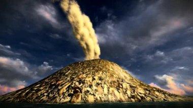 岛上的火山爆发 — 图库视频影像