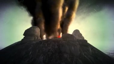 Anak Krakatau erupting — Stock Video