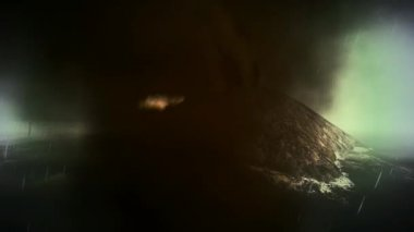 извержения кракатау анак — Стоковое видео
