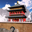 Zen buddhist temple in the mountains — 图库照片