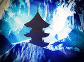 Zen buddhist temple — Stock Photo