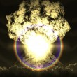 Huge nuclear explosion — Stock Photo #34595095