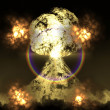 Huge nuclear explosion — Stock Photo