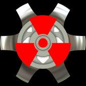 Radioactivity sign — Stock Photo
