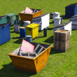 Dumpsters and skips — Stock Photo