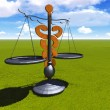 Asclepius & Justice scale — Stock Photo #35543641