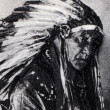 Apache Indian portrait — Stock Photo