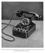 Vintage Siemens telephone — Stock Photo