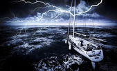 Stormy marina — Stock Photo