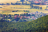 Letecký pohled na obec — Stock fotografie