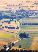 Aerial view of the village — Stock Photo