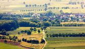 村庄的鸟瞰图 — 图库照片