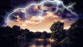 Lightning showdown — Stok fotoğraf