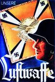 Luftwaffe postacard — Stock Photo