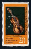 Fiddle on stamp — Stock Photo