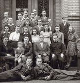 Students from 40's — Foto de Stock
