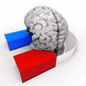 Human Brain and Magnet — Stock Photo