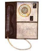 Ilustracja o tradycyjny telefon — Zdjęcie stockowe