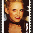 Madonna on a vintage postage stamp by Bravo from early 1980s — Stock Photo #46964341