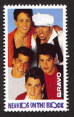 New Kids on the Block on a vintage postage stamp by Bravo from early 1980s — Stock Photo