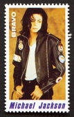 Michael Jackson on a vintage postage stamp by Bravo from early 1980s — Stock Photo