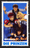 Die Prinzen on a vintage postage stamp by Bravo from early 1980s — Stock Photo