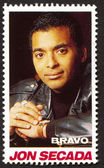 Jon Secada on a vintage postage stamp by Bravo from early 1980s — Stock Photo