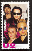 U2   on a vintage postage stamp by Bravo from early 1980s — Stock Photo