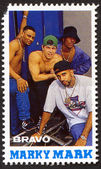 Marky Mark on a vintage postage stamp by Bravo from early 1980s — Stock Photo