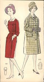 Poland, circa 1961-vintage fashion illustration — Stock Photo