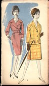 Poland, circa 1961-vintage fashion illustration — Stock Photo