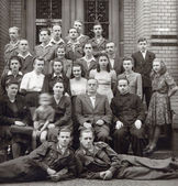Students from 40's — Stock Photo