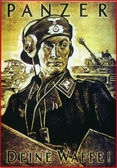 Nazy wartime poster — Stock Photo