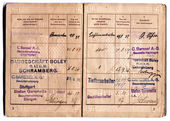German vintage EMPLOYMENT RECORD -WORK CERTIFICATE — Stock Photo