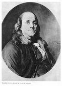 Benjamin Franklin on portrait — Stock Photo